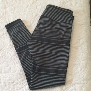 Athleta full length striped legging